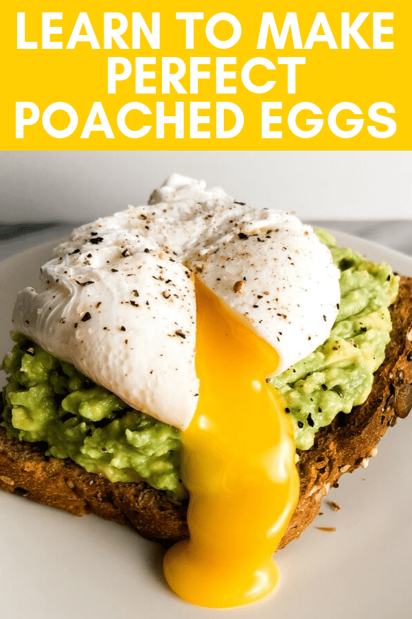 pinterest image for a perfect poached egg