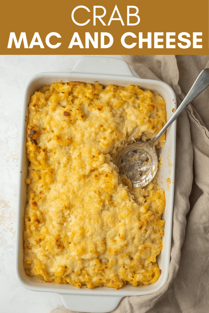 Image for pinning crab mac and cheese recipe on pinterest