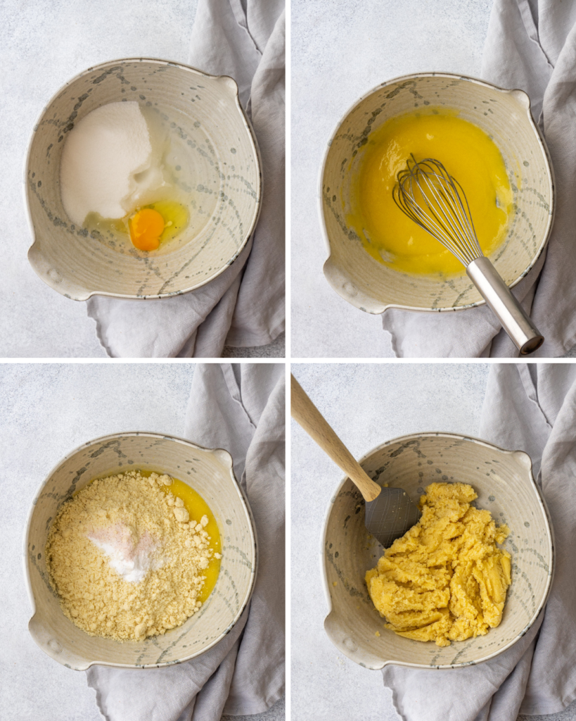 step by step pictures of the almond cookie dough