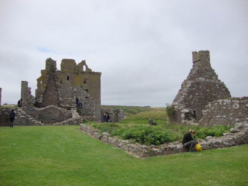 Interior del castillo de Dunnottar