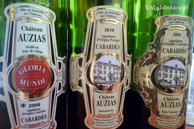 Vinos del Château Auzias