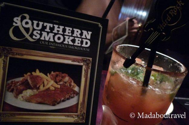 Menú Smokehouse de Hard Rock Café
