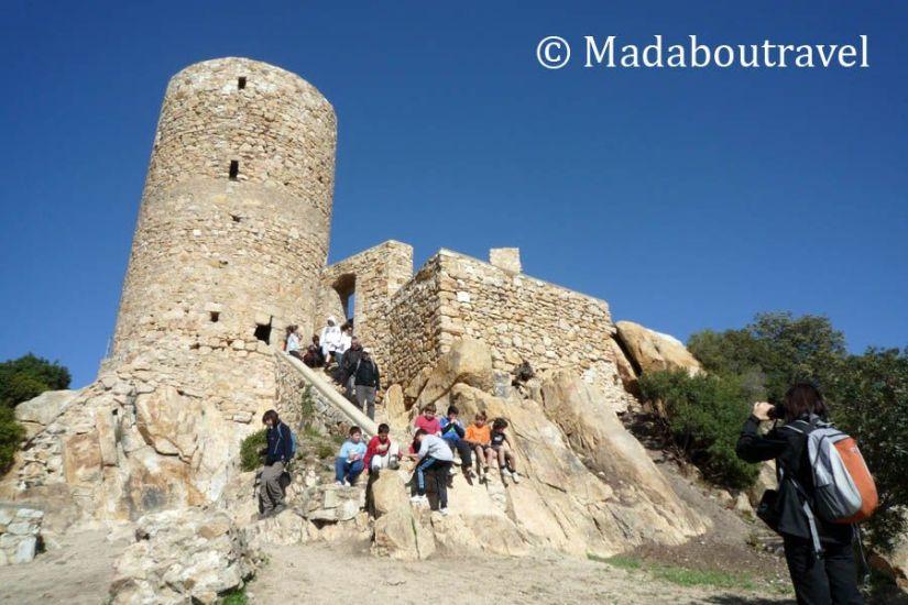 Vistas de la Torre del homenaje del Castell de Burriac, Cabrera de Mar