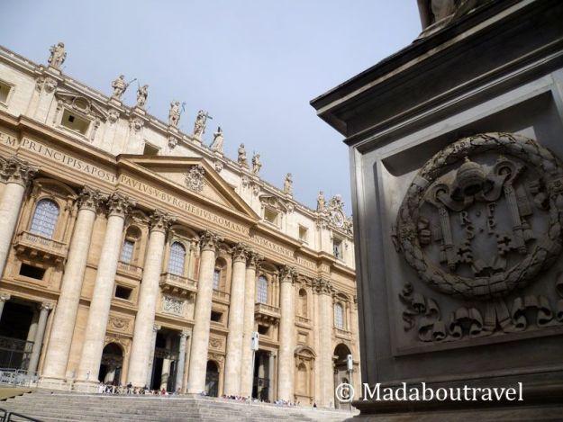 Exterior de la Basílica de San Pedro del Vaticano