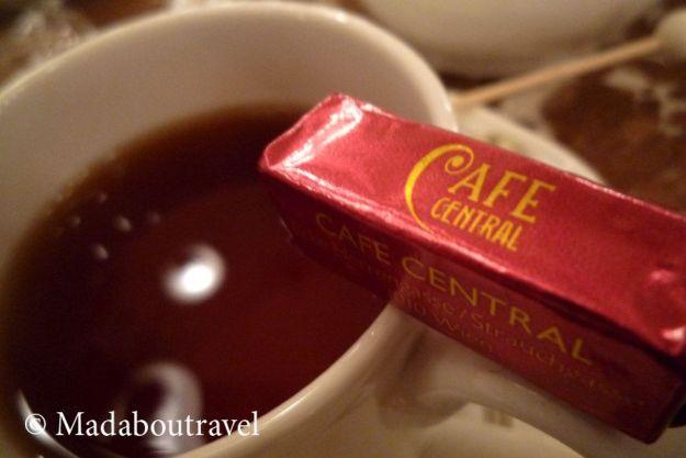 Té de frutos rojos en el Café Central, Viena