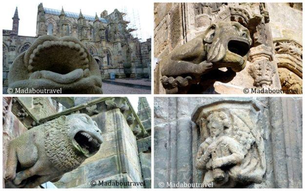 Gárgolas y detalles de la capilla de Rosslyn