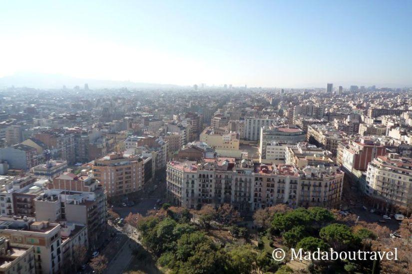 Vistas de Barcelona desde la Sagrada Familia