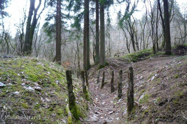 Trinchera de la I Guerra Mundial en Verdun