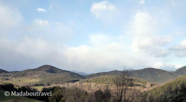 Vistas de la zona volcánica de la Garrotxa