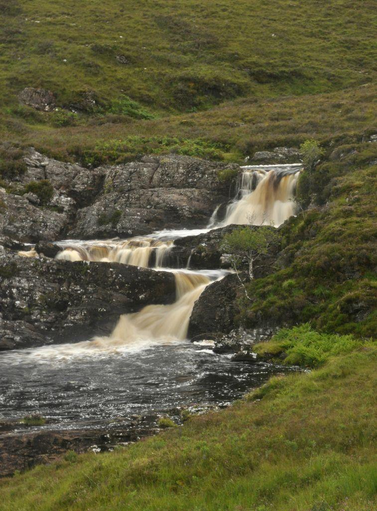 Cascada entre Ullapool y Plockton