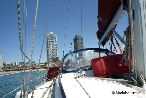 Excursión en velero por Barcelona