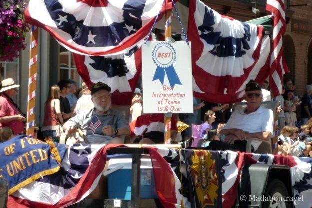 Veteranos de la II Guerra Mundial en el desfile del 4 de julio en EEUU