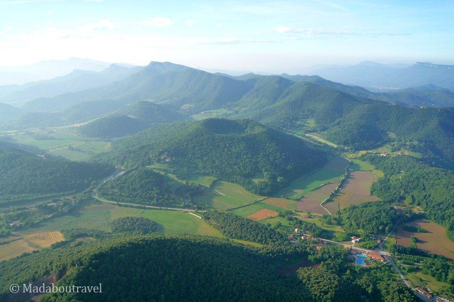 El volcán de Santa Margarida desde el aire