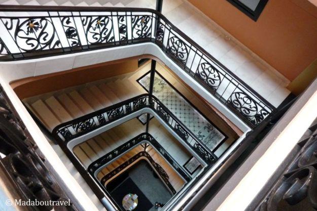 Escalera del Hotel España de Barcelona