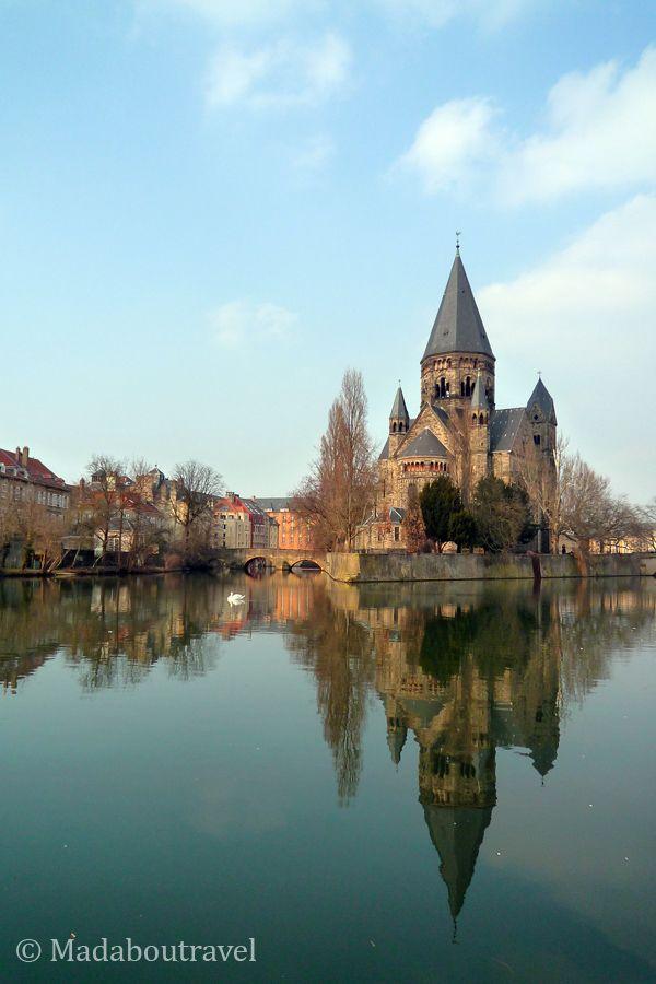 Île du Petit Saulcy y el Templo Nuevo de Metz