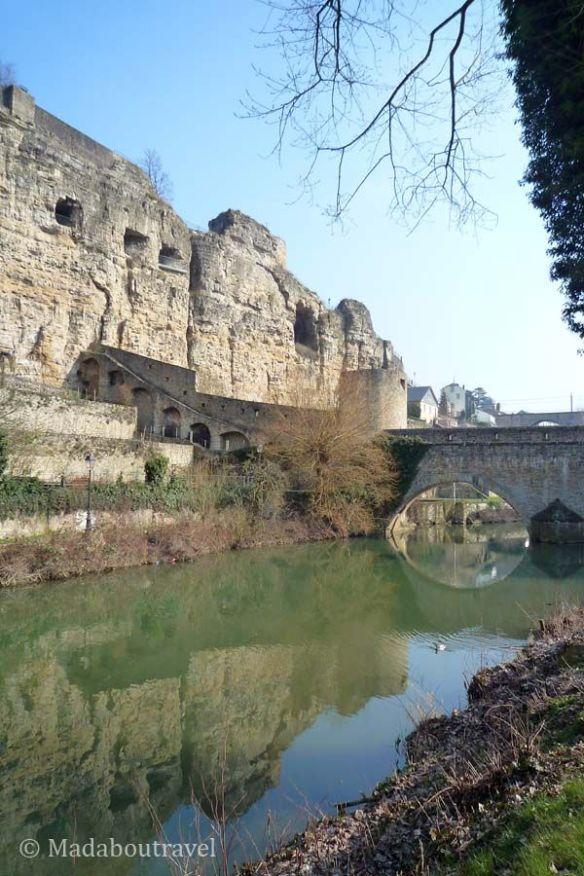 Muro de Wenceslao y el promontorio del Bock en Luxemburgo