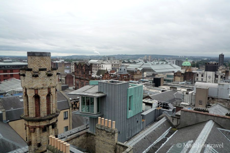 Vistas de Glasgow desde la torre de The Lighthouse