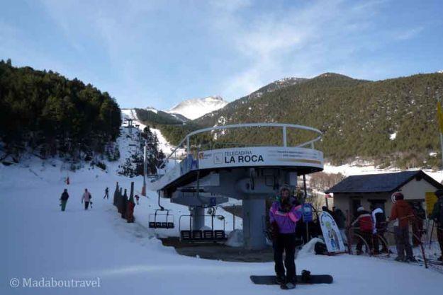 Telesilla de la estación de esquí de Espot en el Pallars, Pirineo de Lleida