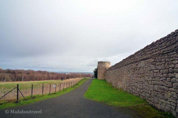 Muralla exterior del Castillo de Craigmillar de Edimburgo