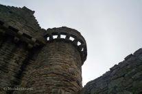 Vista de uno de los torreones de Craigmillar