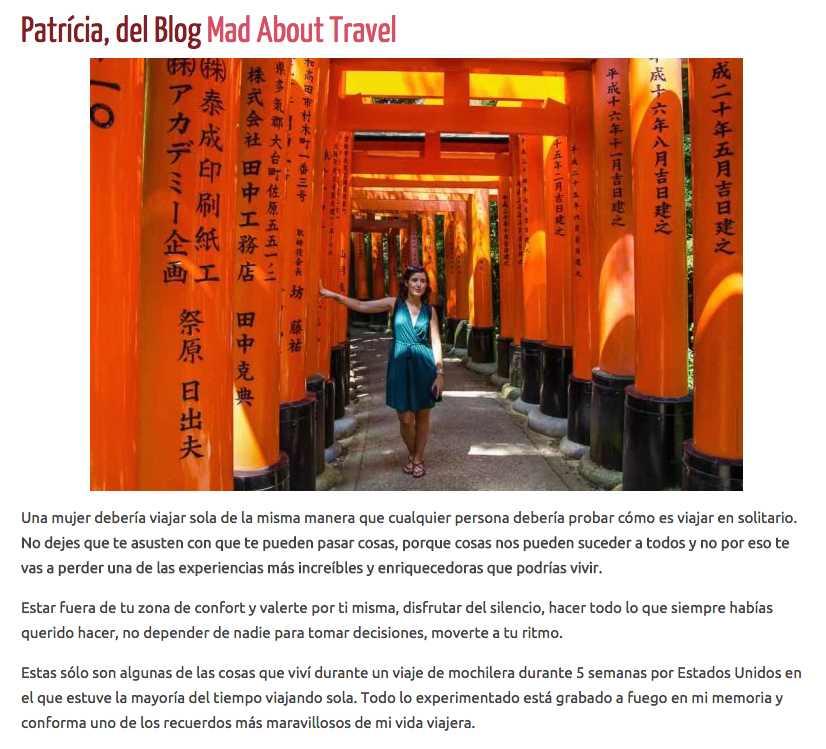 Artículo en el blog Nomadic Chica