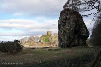 De camino al castillo de Dunollie en Oban
