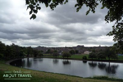 Edimburgo visto desde Inverleith Park