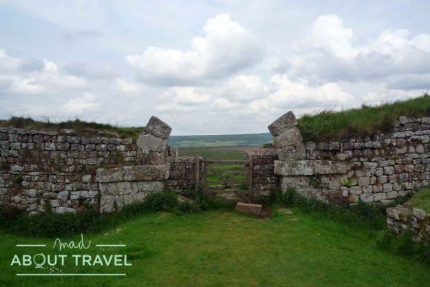 Restos de una guarnición del Muro de Adriano en Nortumbria