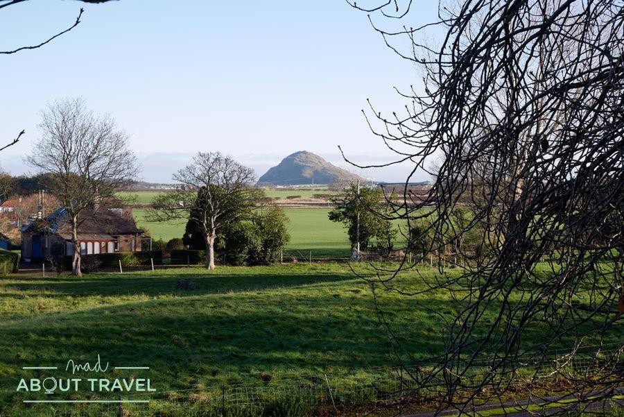 Vistas de North Berwick desde el castillo de Dirleton