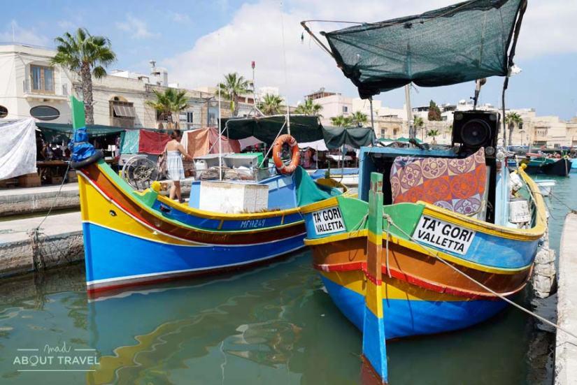 Puerto de Marsaxlokk en Malta
