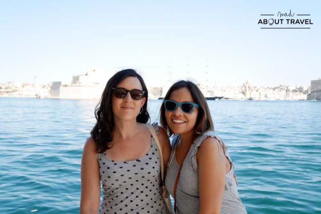 Con Giovis en La Valletta