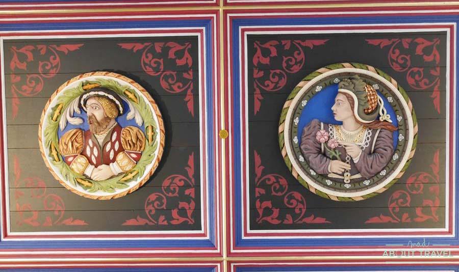 Cabezas pintadas en el castillo de Stirling