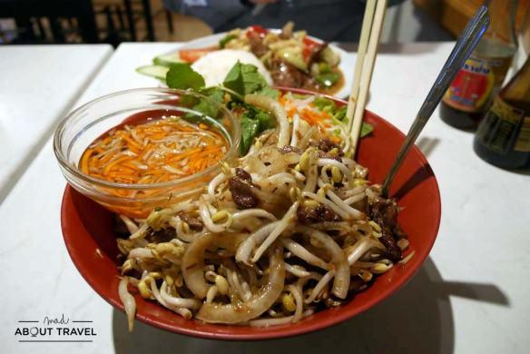 Comida vietnamita en Lille Saigon 1 en Oslo