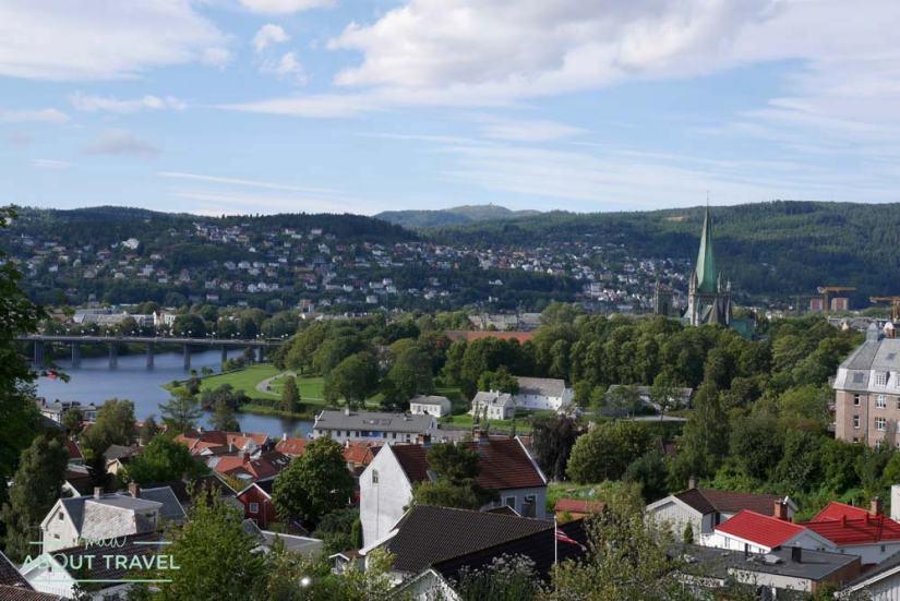 Vistas de Trondheim desde la fortaleza de Kristiansten