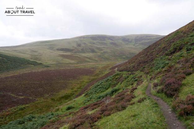 Senderismo en las Pentlands de Escocia