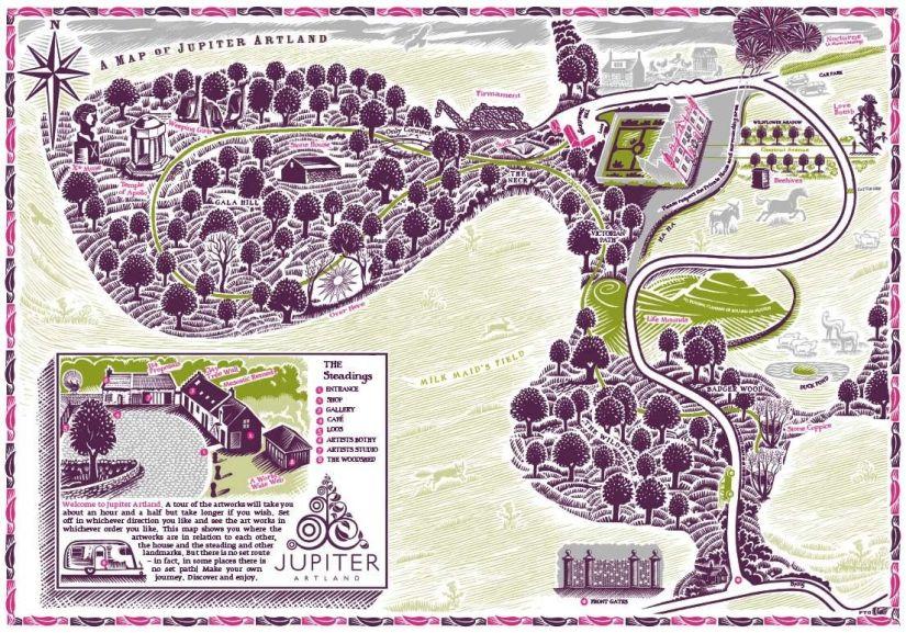 Mapa de Jupiter Artland