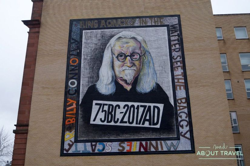 ruta de murales en Glasgow: Billy Connolly