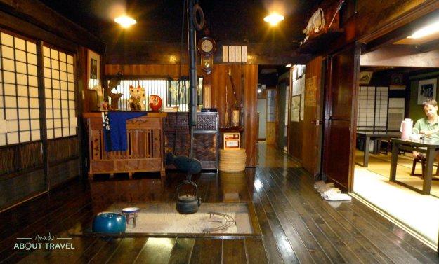 Cena en el Tajimaya Inn en Magome