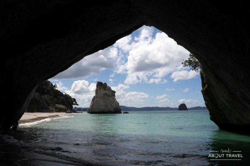 Cathedral Cove en la península de Coromandel