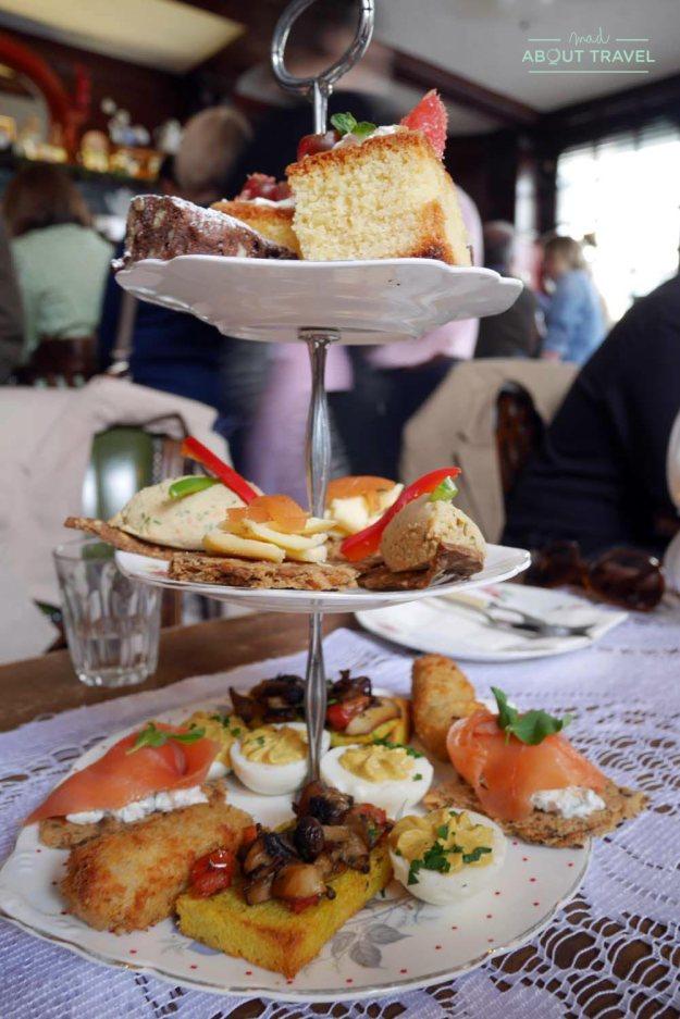 Afternoon tea en el Roseleaf de Edimburgo