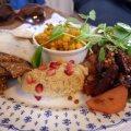 Afternoon tea vegano en el Roseleaf de Leith Edimburgo