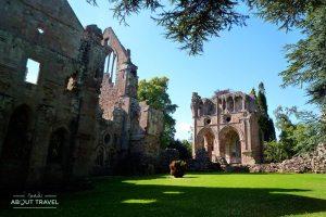 Abadía de Dryburgh en los Borders de Escocia