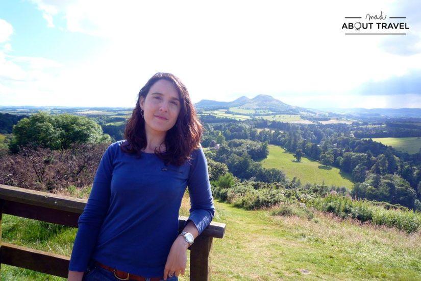 En Scott's View en los borders de escocia