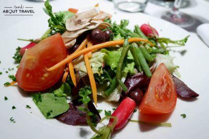Comida en el restaurante La Mado en Aix-en-Provence