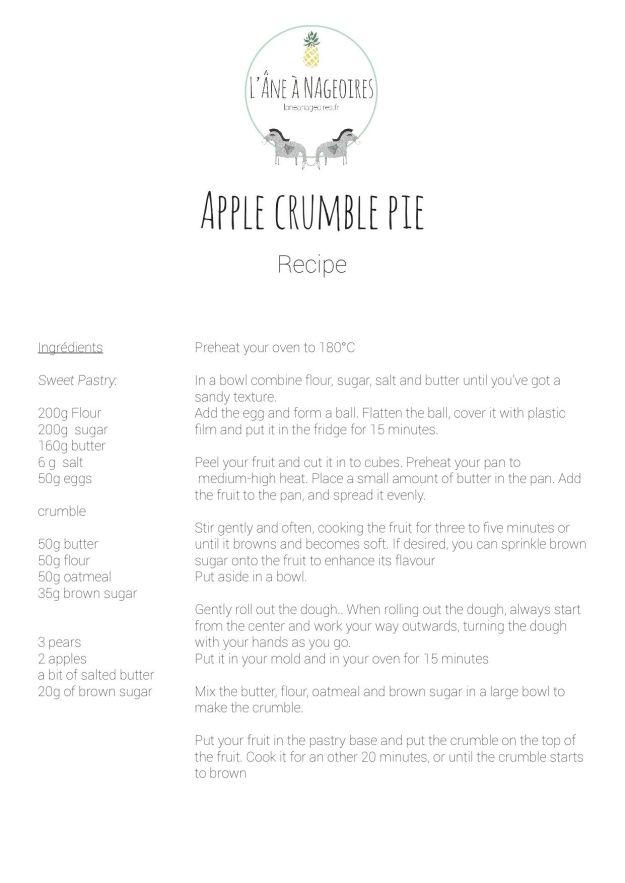 Receta de tartaletas de manzana y pera de L'Âne à Nageoires en Aix-en-Provence