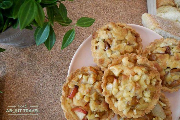 Tartaletas de manzana y pera en L'Âne à Nageoires