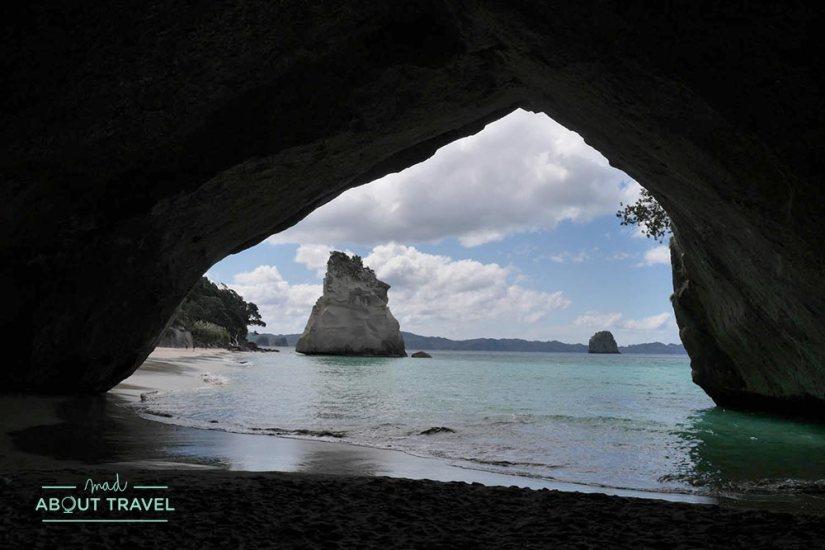 Playa de Cathedral Cove Nueva Zelanda
