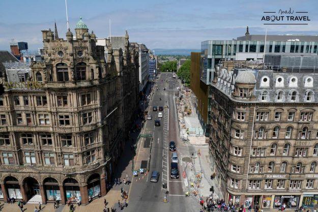 vistas desde el Scott Monument en Edimburgo