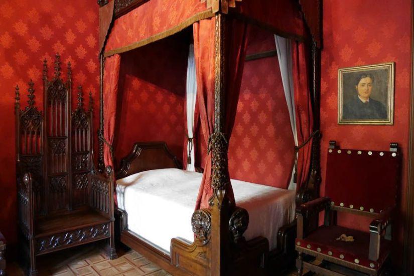 habitación de antoni amatller en la casa amatller de barcelona