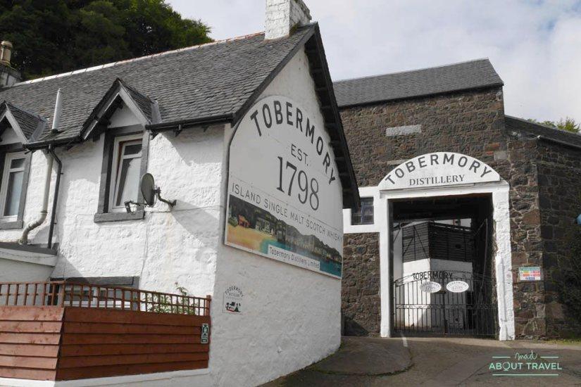 destilería de whisky tobermory en Mull